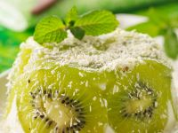 Kokoscreme mit Kiwi