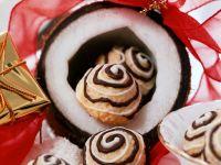 Kokosmakronen mit Schokolade Rezept