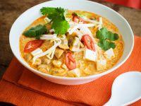 Kokossuppe mit Nudeln und Gemüse Rezept