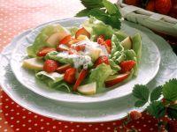 Kopfsalat mit frischem Obst Rezept