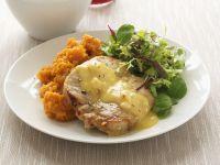 Kotelett mit Orangensoße und Süßkartoffelbrei Rezept