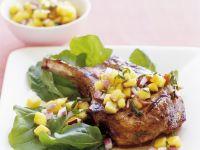 Kotelett vom Kalb mit Pfirsich-Salsa Rezept