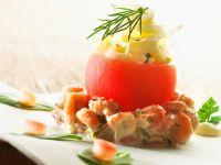 Krabbensalat mit gefüllter Tomate Rezept