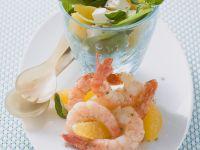 Krabbensalat mit Orangen, Spinat und Feta Rezept