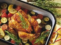 Kräuter-Hähnchen mit Gemüse Rezept