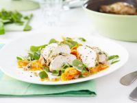 Kräuter-Hähnchenbrust mit Möhren Rezept