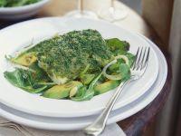 Kräuter-Kabeljau mit Salat Rezept
