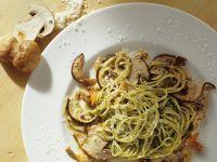 Kräuter-Spaghetti mit Steinpilzen Rezept