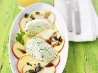 Kräutercreme mit Obstcarpaccio Rezept