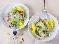 Kräuterflan mit Salat Rezept