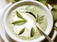 Kräuterrahmsuppe mit Sauerampfer Rezept