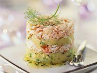 Krebsfleisch-Kartoffel-Türmchen Rezept