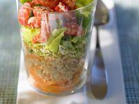 Krebsfleisch-Salat