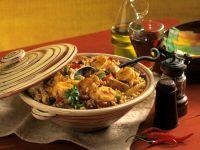 Kreolischer Eintopf mit Hähnchen, Mais, Bohnen und Banane (Gumbo) Rezept