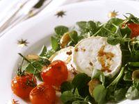 Kressesalalat mit Tomaten und Ziegenkäse Rezept