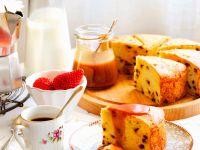Kuchen mit Ricotta und Schokotröpfchen