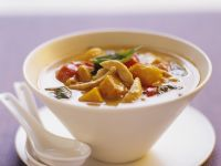 Kürbis-Hühnchen-Suppe auf Thai-Art Rezept