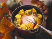 Kürbis-Kartoffeleintopf mit Kassler Rezept