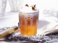 Kürbis-Smoothie mit Milchschaum Rezept