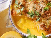 Kürbis-Tomatengratin Rezept