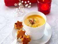 Kürbiscreme mit Orange, Zimt und Lebkuchen Rezept