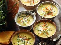 Kürbiscremesuppe mit Paprika und Möhre Rezept