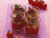 Kurzgebratene Steakwürfel mit Tomaten und Reis Rezept