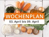 Wochenplan vom 3. April bis 9. April 2017