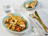 Lachs auf Tomaten-Fenchel-Gemüse Rezept