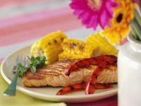 Lachs mit Gemüse vom Grill Rezept