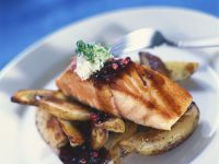 Lachs mit Ofenkartoffeln Rezept