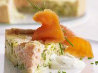 Lachs-Porree-Quiche mit Zitrone Rezept