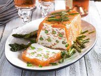 Lachs-Spargel-Terrine mit Frischkäse Rezept