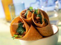 Lachs-Wraps mit Kräutersauce Rezept