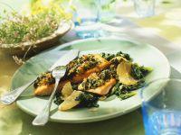 Lachsfilet mit Spinat Rezept