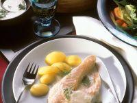 Lachskotelett mit Buttersauce Rezept