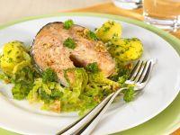 Lachssteak mit Gemüse Rezept