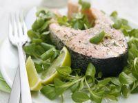 Lachssteak mit Kressesalat Rezept