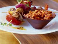 Lamm-Gemüsespieße mit Tomatenpesto Rezept