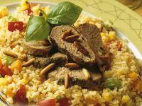Lamm im Pestomantel auf Bulgur Rezept