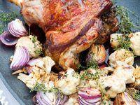 Lamm mit Blumenkohl-Zwiebelgemüse Rezept