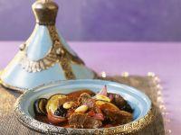 Lamm mit Gemüse und Mandeln aus der Tajine Rezept