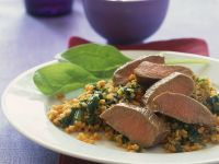 Lamm mit Spinat-Bulgur Rezept