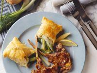 Lammchops mit Blätterteigtaschen Rezept