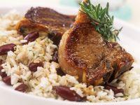 Lammchops mit Bohnen-Reis Rezept