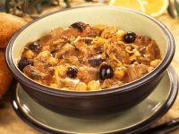 Lammeintopf mit Kichererbsen und Oliven Rezept