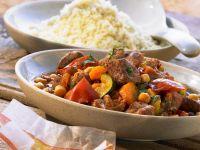 Lammeintopf mit Kichererbsen und Safran dazu Couscous Rezept