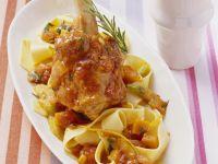 Lammhaxe mit Gemüsesoße Rezept