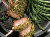Lammkarree mit Kräuterhaube und grünen Bohnen Rezept