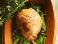 Lammkeule mit Bohnen Rezept